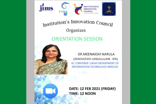 Orientation Session by Innovation Ambassador
